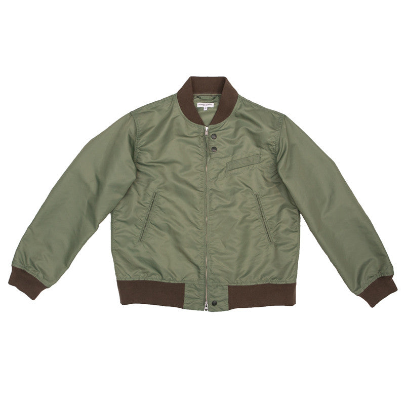 Engineered Garments Aviator Jacket - Olive Flight Sateen - The Class Room boutique