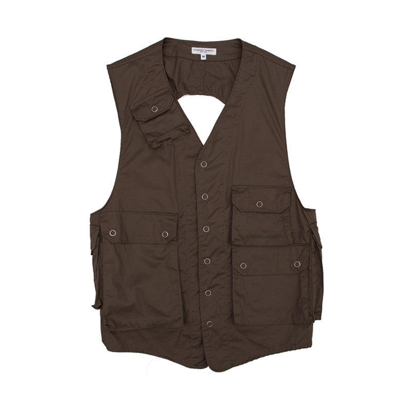 Engineered Garments C-1 Vest - Olive High Count Twill - The Class Room boutique