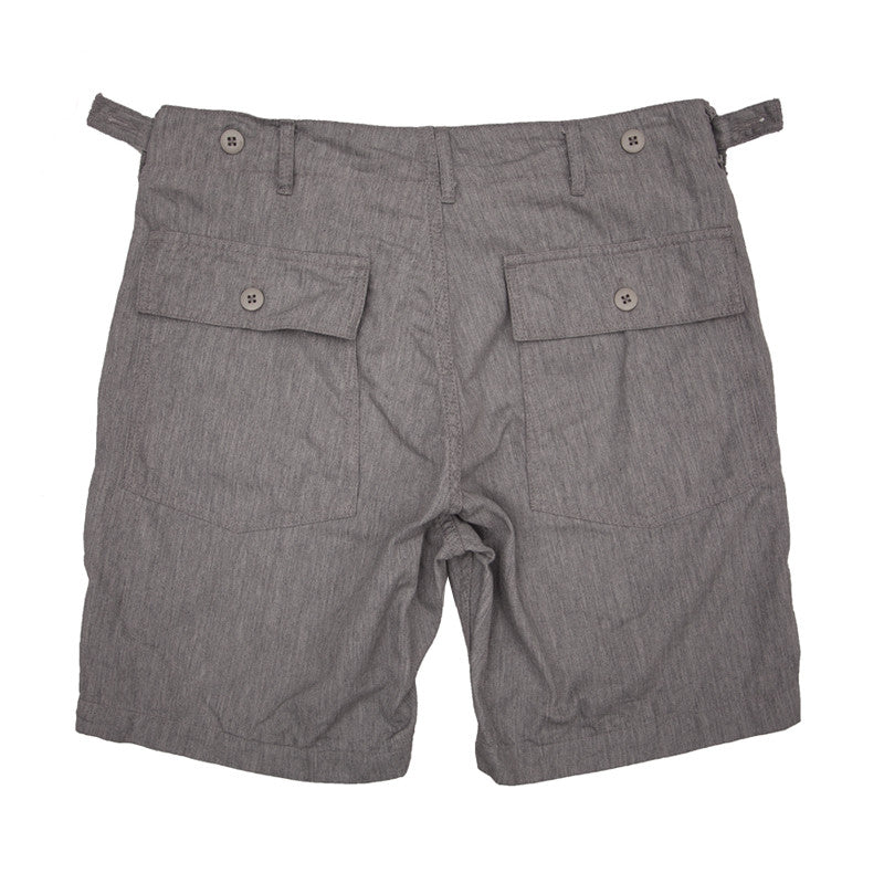Engineered Garments Fatigue Short - Heather Grey Cotton Twill - The Class Room boutique