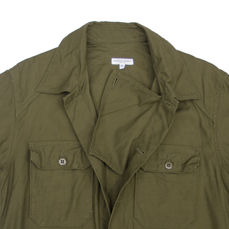 Engineered Garments Field Shirt - Olive Reversed Sateen - The Class Room boutique