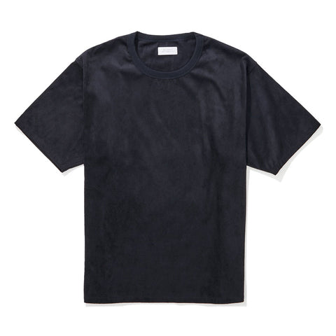 Saturdays NYC Elliot Suede Short Sleeve Shirt - Midnight - The Class Room boutique