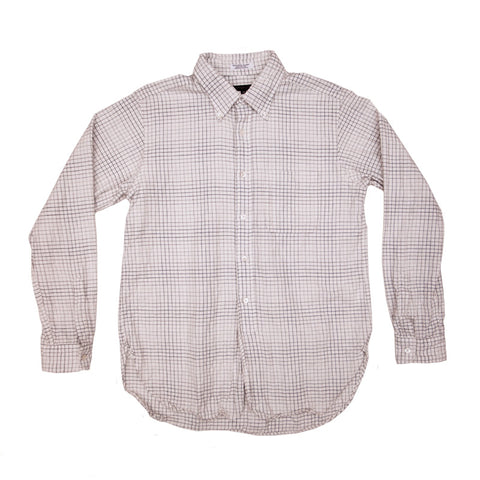 Engineered Garments 19th Century BD Shirt - Brown/White Faded Tattersall - The Class Room