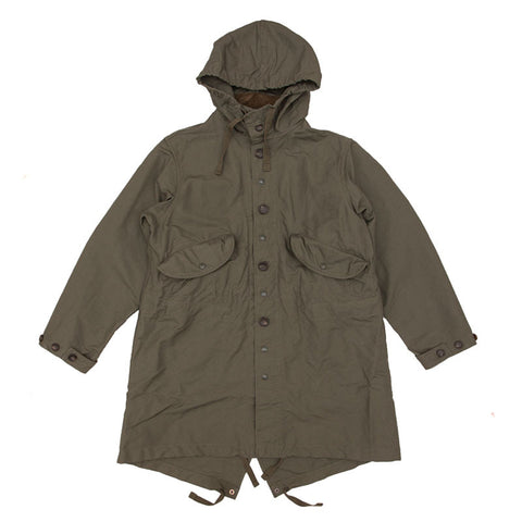 Engineered Garments Highland Parka - Olive Cotton Double Cloth - The Class Room - 1