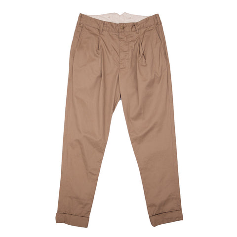 Engineered Garments Willy Post Pant - Khaki Chino Twill - The Class Room - 1