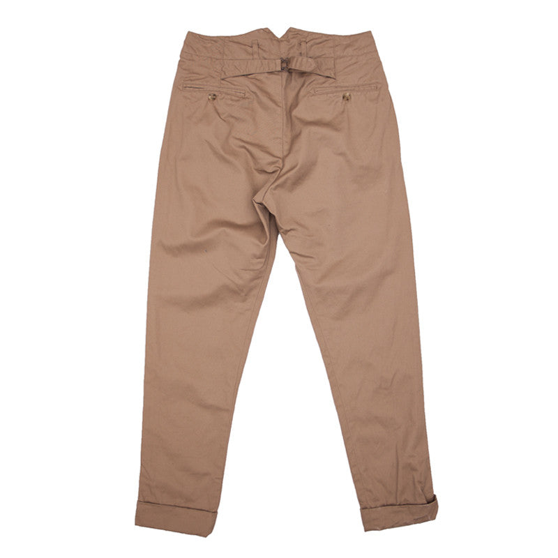 Engineered Garments Willy Post Pant - Khaki Chino Twill - The Class Room - 2