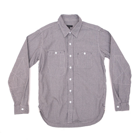 Engineered Garments Work Shirt - Natural/Blue Railroad Stripe - The Class Room