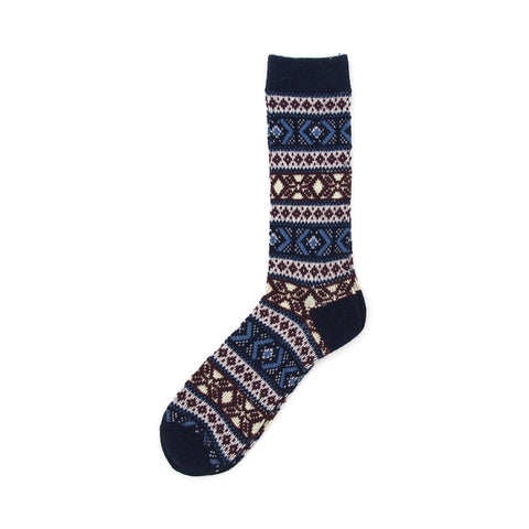 Anonymous Ism Wool JQ Crew Sock - Navy - The Class Room boutique