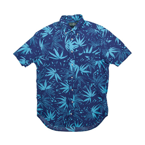 Gitman Vintage Aloha Blue Archive Print S/S Buttondown - The Class Room