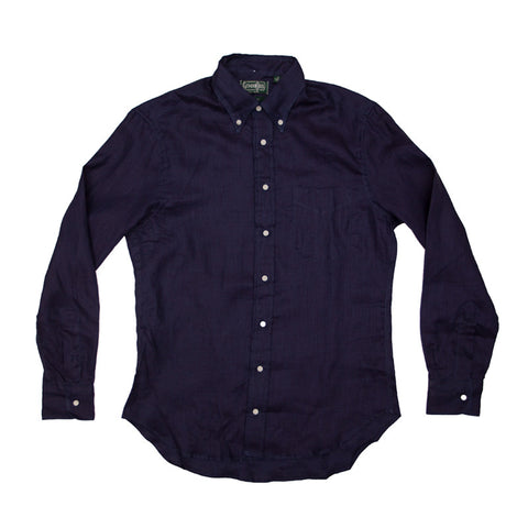 Gitman Vintage Japanese Indigo Linen Buttondown - The Class Room