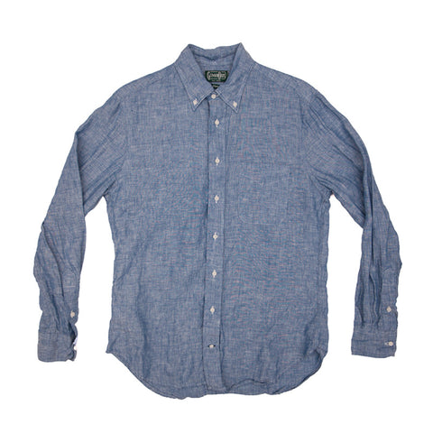 Gitman Vintage Linen Chambray Buttondown - Blue - The Class Room