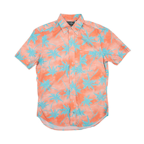 Gitman Vintage New Wave Palm Print - Coral - The Class Room