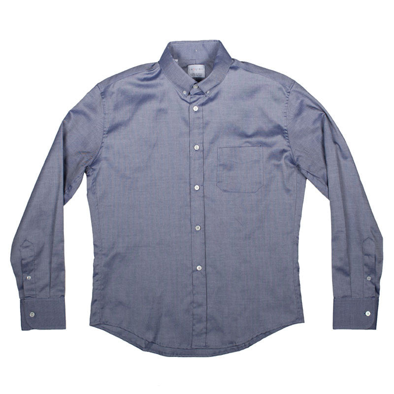 Inquiry Premise Buttondown Shirt - Navy - The Class Room - 1