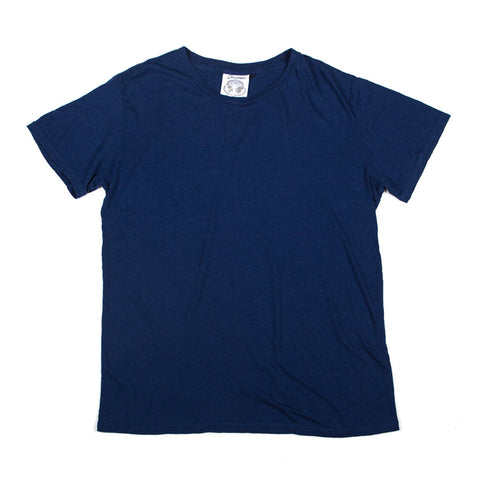 Jungmaven Original 60/40 Organic Hemp/Cotton Blend Tee - Deep Indigo - The Class Room