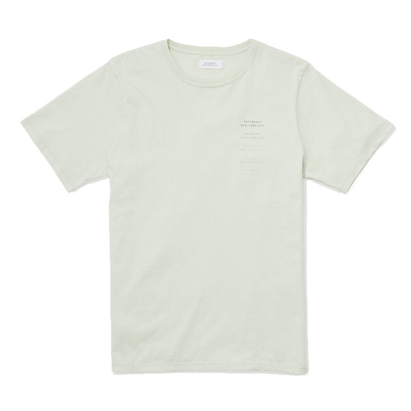 Saturdays NYC Logo Fade SS T-shirt - Mint - The Class Room boutique