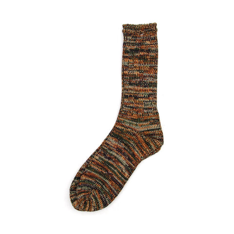 Anonymous Ism 5 Color Mix Crew Sock - Earth / Green - The Class Room boutique