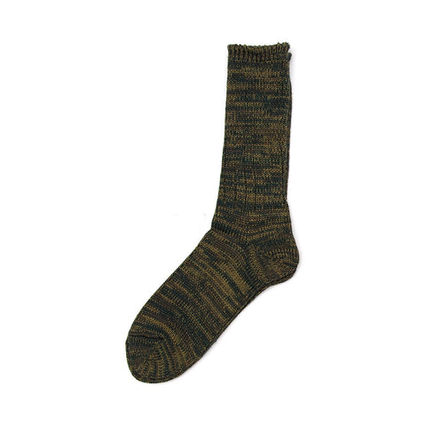 Anonymous Ism 5 Color Mix Crew Sock - Olive / Green - The Class Room boutique