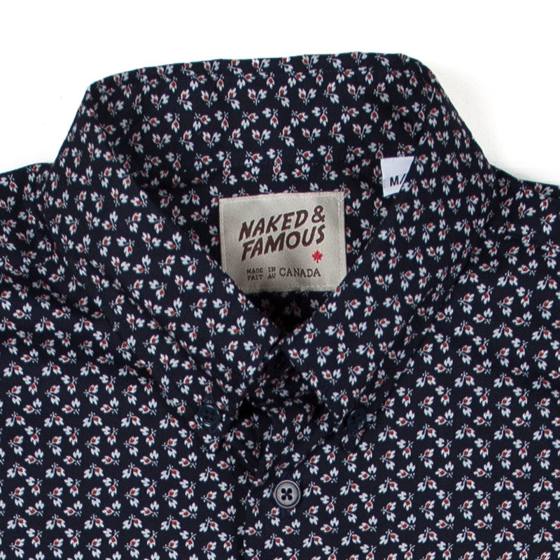 Naked & Famous Short Sleeve Shirt - Spring Flower Print - The Class Room boutique