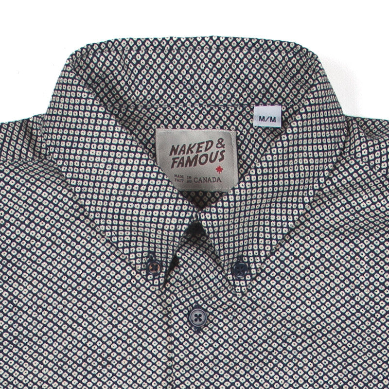 Naked & Famous Regular Shirt - Kimono Print Eyes - The Class Room boutique