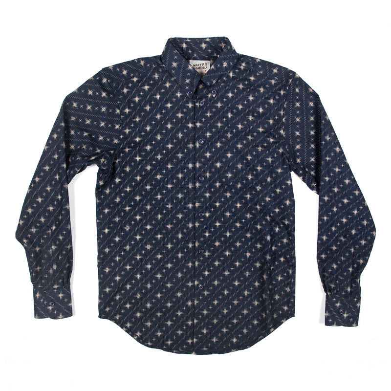 Naked & Famous Regular Shirt - Kimono Diagonal Symbols - The Class Room boutique