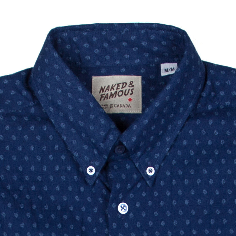 Naked & Famous Regular Shirt - Double-Weave Dobby Teardrops - The Class Room boutique