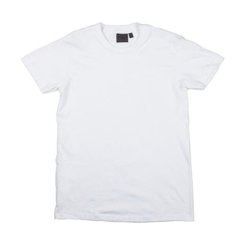 Naked & Famous Circular Knit T-shirt - White - The Class Room boutique