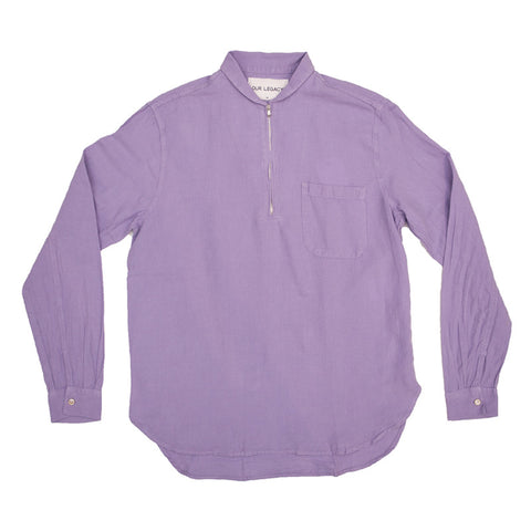 Our Legacy Shawl Zip Shirt - Orchid Cotton/Linen - The Class Room boutique