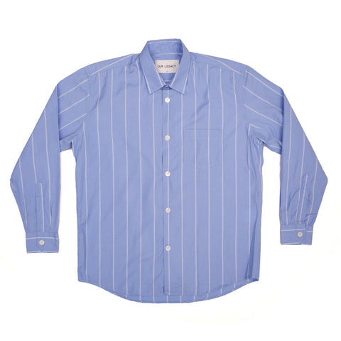 Our Legacy Initial Shirt - Double Deck Blue Stripe - The Class Room boutique