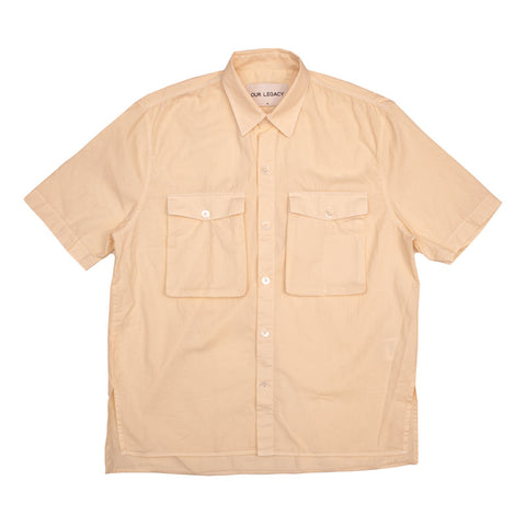 Shawl Zip Shirt - Orchid Cotton/Linen