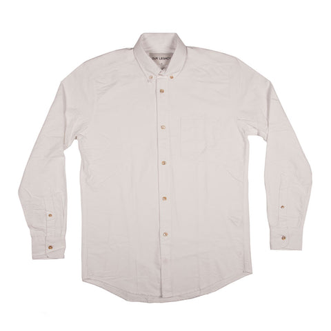 Our Legacy 1940s Shirt Heavy White Oxford - The Class Room boutique