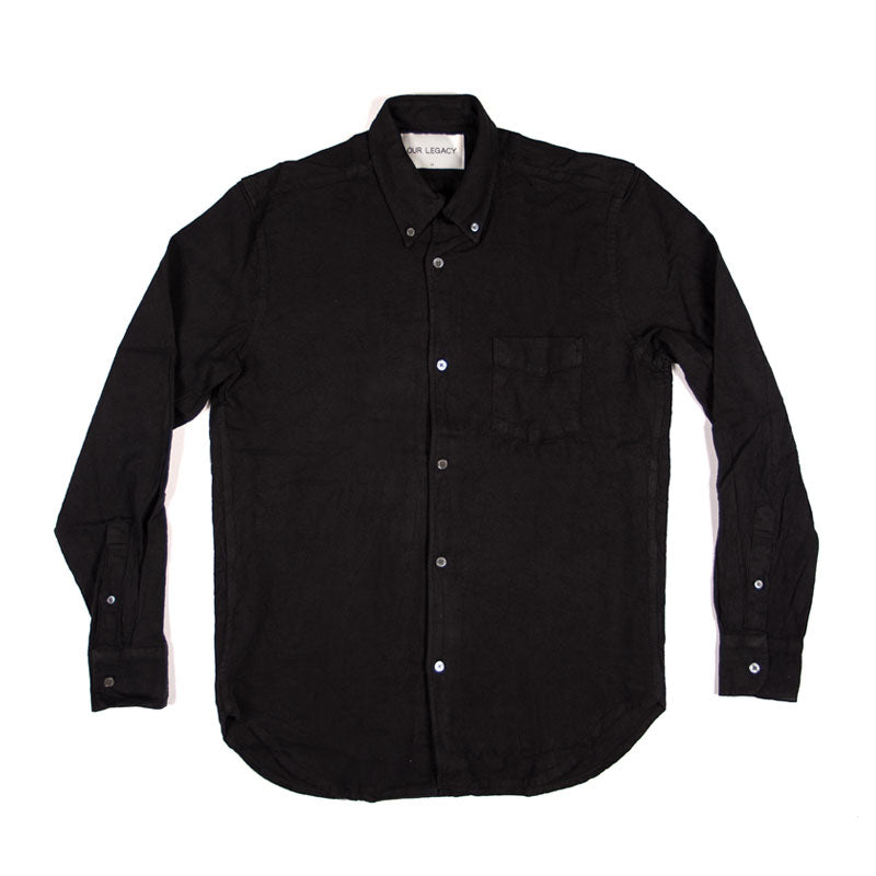 Our Legacy 1950s Shirt - Black H.A. Oxford - The Class Room boutique