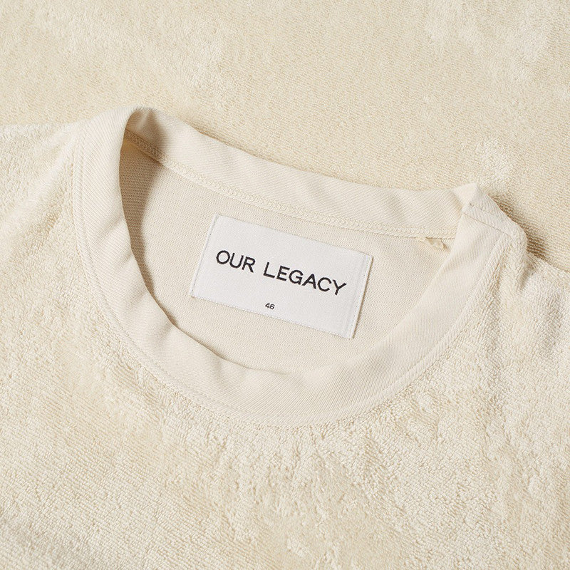 Our Legacy Perfect T-shirt - Cream Light Terry - The Class Room boutique