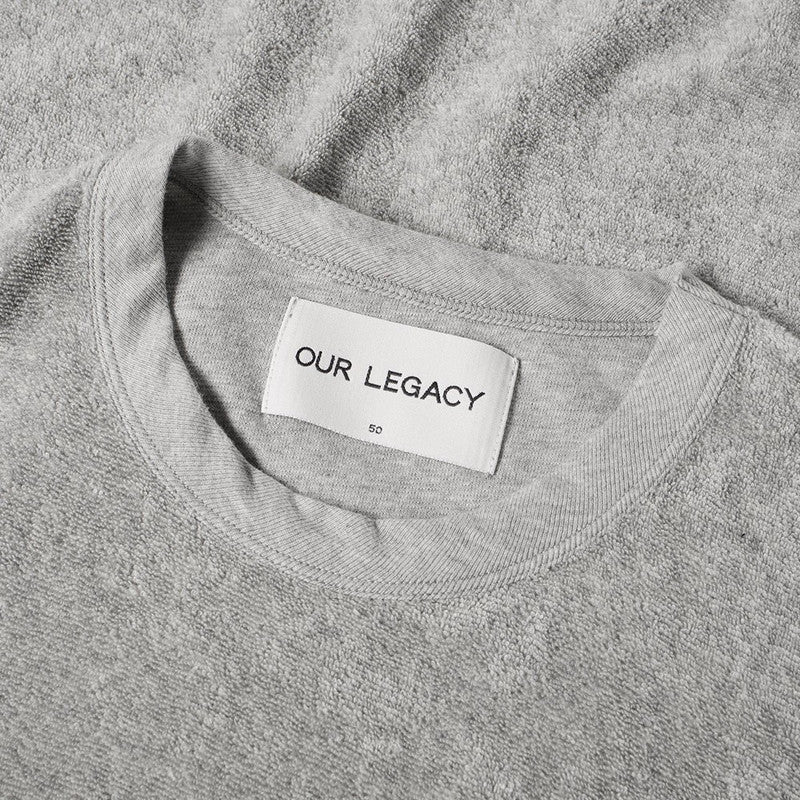Our Legacy Perfect T-shirt - Grey Melange Light Terry - The Class Room boutique