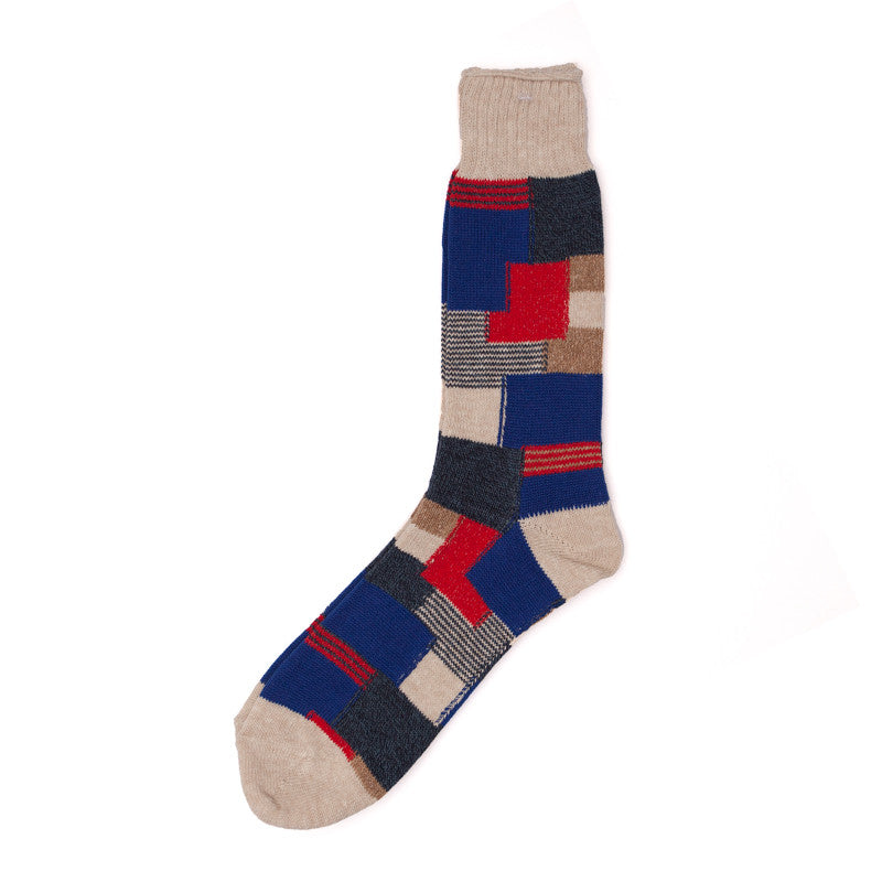 Anonymous Ism Patchwork Crew Sock (Multiple Colors) - The Class Room boutique