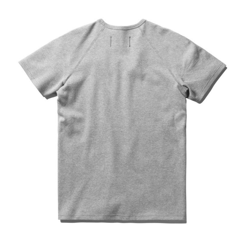 Reigning Champ Knit Mesh Jersey SS Raglan Tee - Heather Grey - The Class Room boutique