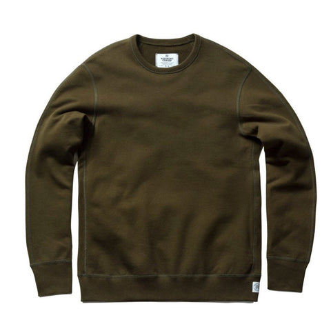 Reigning Champ Midweight Terry Longsleeve Crewneck Sweatshirt - Olive - The Class Room