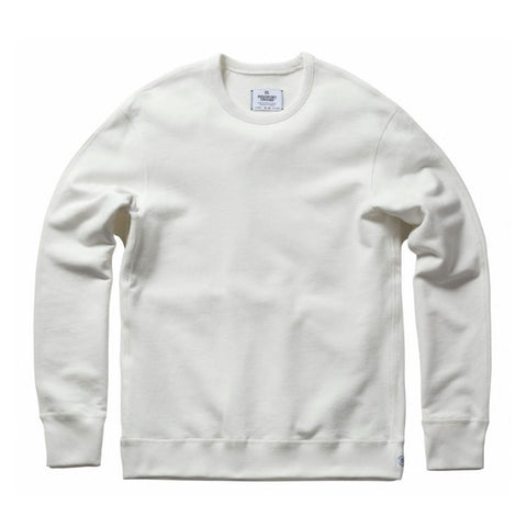 Reigning Champ Midweight Terry Longsleeve Crewneck Sweatshirt - Winter White - The Class Room