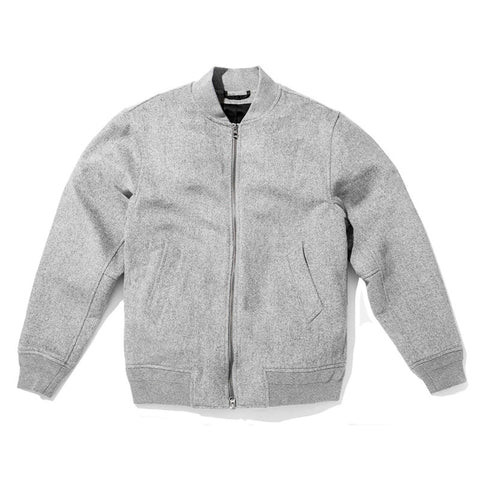 Saturdays NYC Goose Bomber - Heather Grey - The Class Room - 1