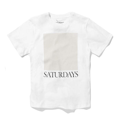 Saturdays NYC Chest Square T-Shirt - White - The Class Room