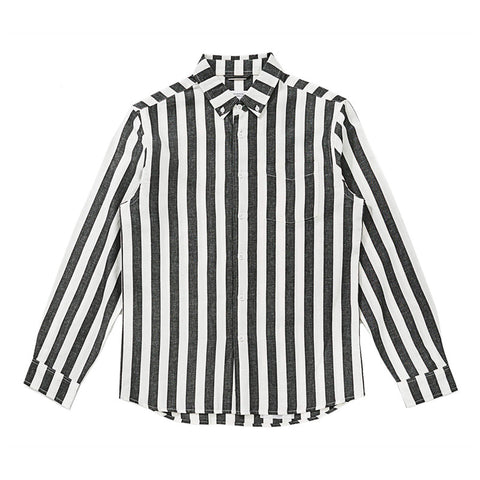 Saturdays NYC Crosby Jumbo Stripe Shirt - Ivory - The Class Room boutique