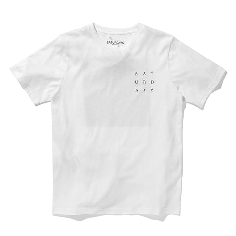 Saturdays NYC Grid T-Shirt - White - The Class Room - 1