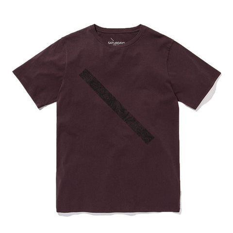 Saturdays NYC Slash T-Shirt - Oxblood - The Class Room