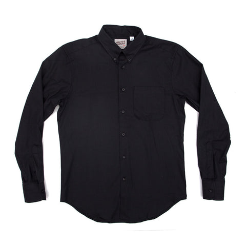 Naked & Famous Regular Shirt - Shadow Oxford Black - The Class Room boutique
