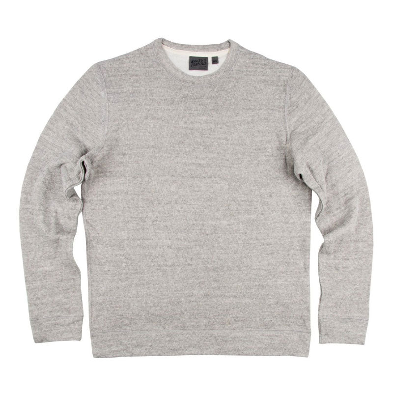 Naked & Famous Slim Crewneck Sweater - Grey Vintage Doubleface - The Class Room boutique