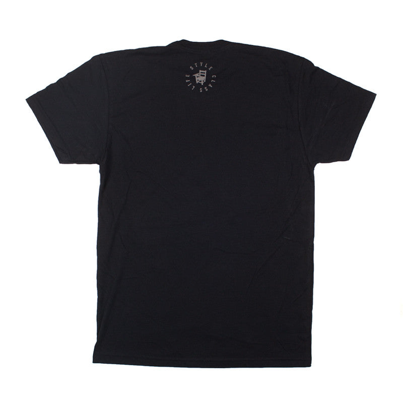 The Class Room TCR Script Logo Tee - Black w/ Grey Script - The Class Room boutique