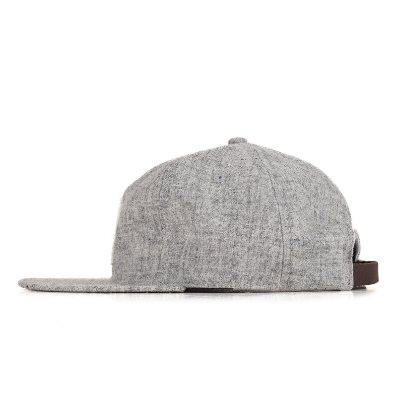 Ebbets Field Flannels TCR Houston Strapback Cap - Heather Grey Wool w/ White H - The Class Room - 2