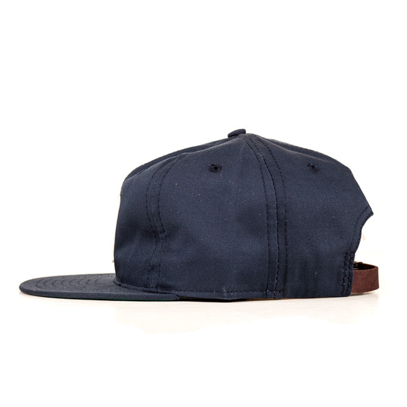 Ebbets Field Flannels TCR Houston Strapback Cap - Navy Cotton Twill Crown w/ White H - The Class Room - 2