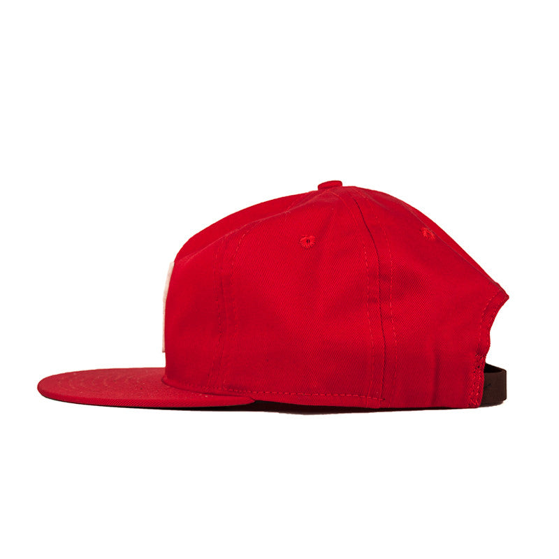 Ebbets Field Flannels TCR Houston Strapback Cap - Red Cotton Twill Crown w/ White H - The Class Room - 2