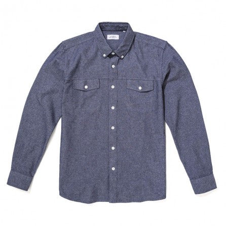 Saturdays NYC Javas Marled Shirt - Navy / White - The Class Room - 1