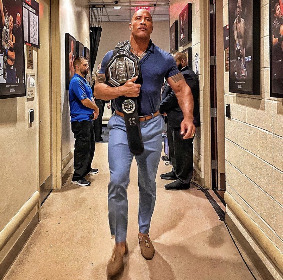 The Rock Presents UFC 'BMF' Belt in MC Classico