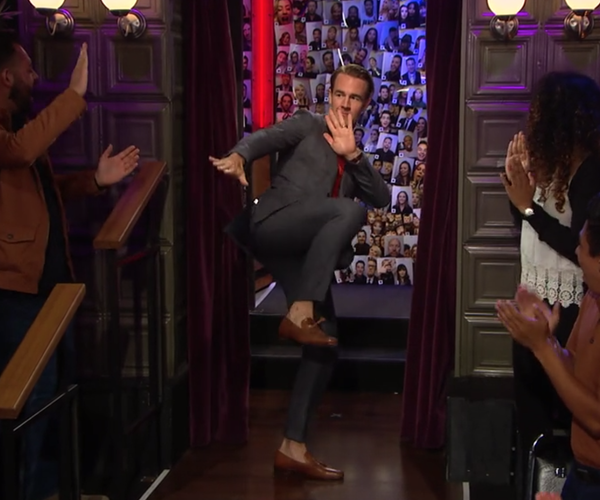 James Van Der Beek Wears 'MC' on James Corden Late Night Show